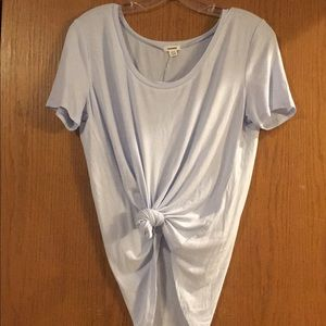 NWT Garage Light Blue Scoop Neck Relaxed Tee
